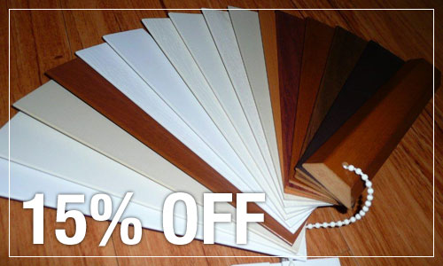 15% Off Woodlook Venetians